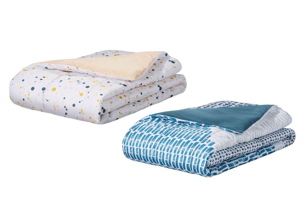 Room Essentials Splatter Paint Comforter in Twin XL or Colorblock Teal Blue Comforter in Twin XL ($1